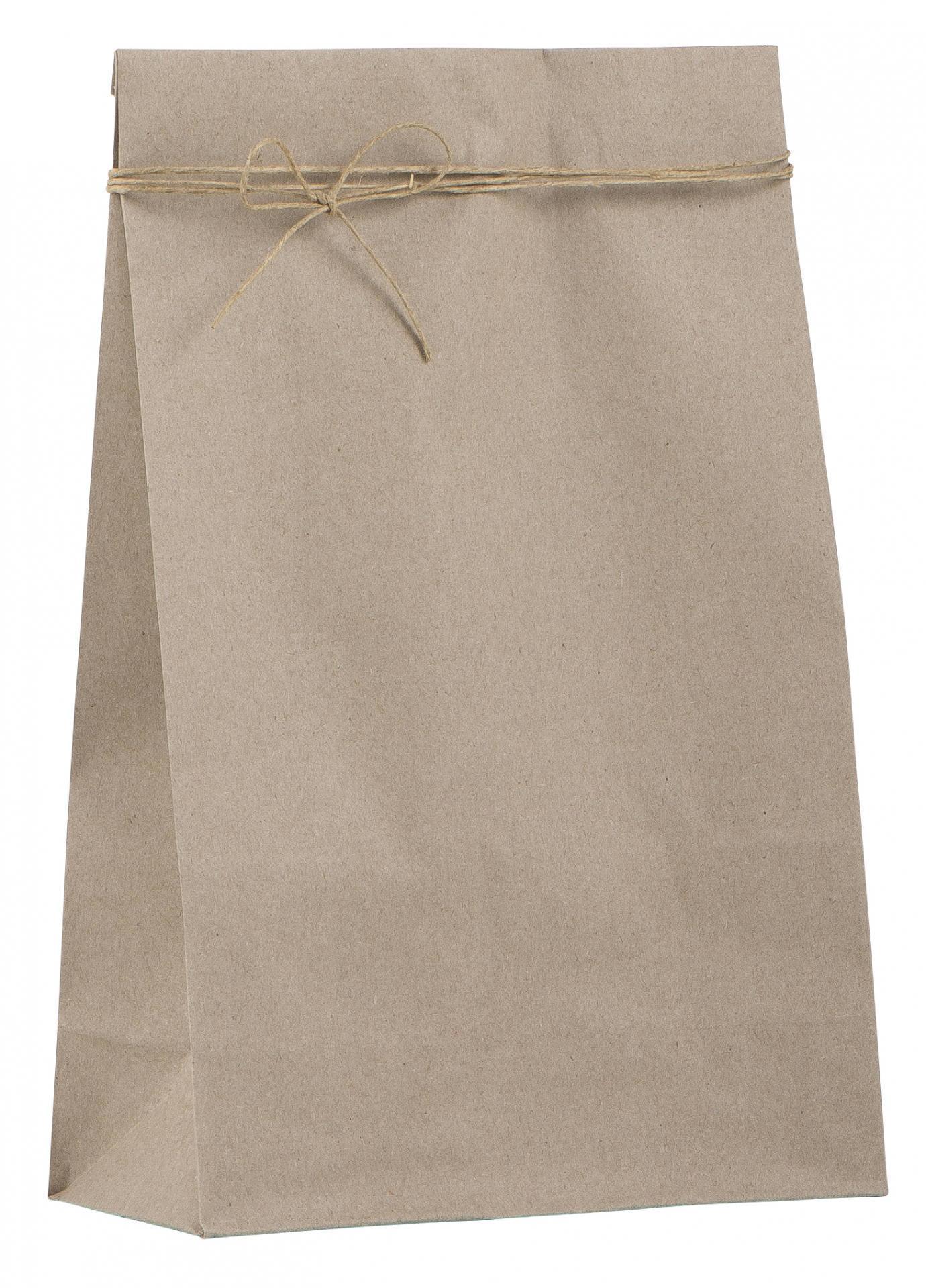 IB LAURSEN Papírový sáček Kraft - větší, béžová barva, papír