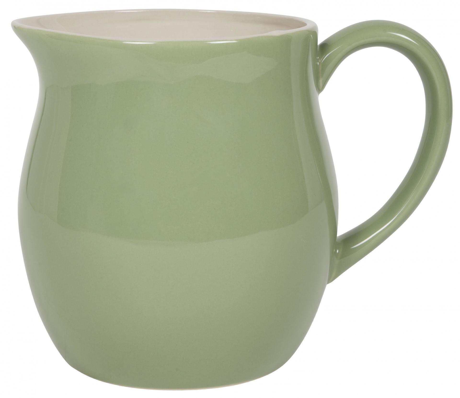 IB LAURSEN Džbán Mynte Meadow green 2,5 l, zelená barva, keramika
