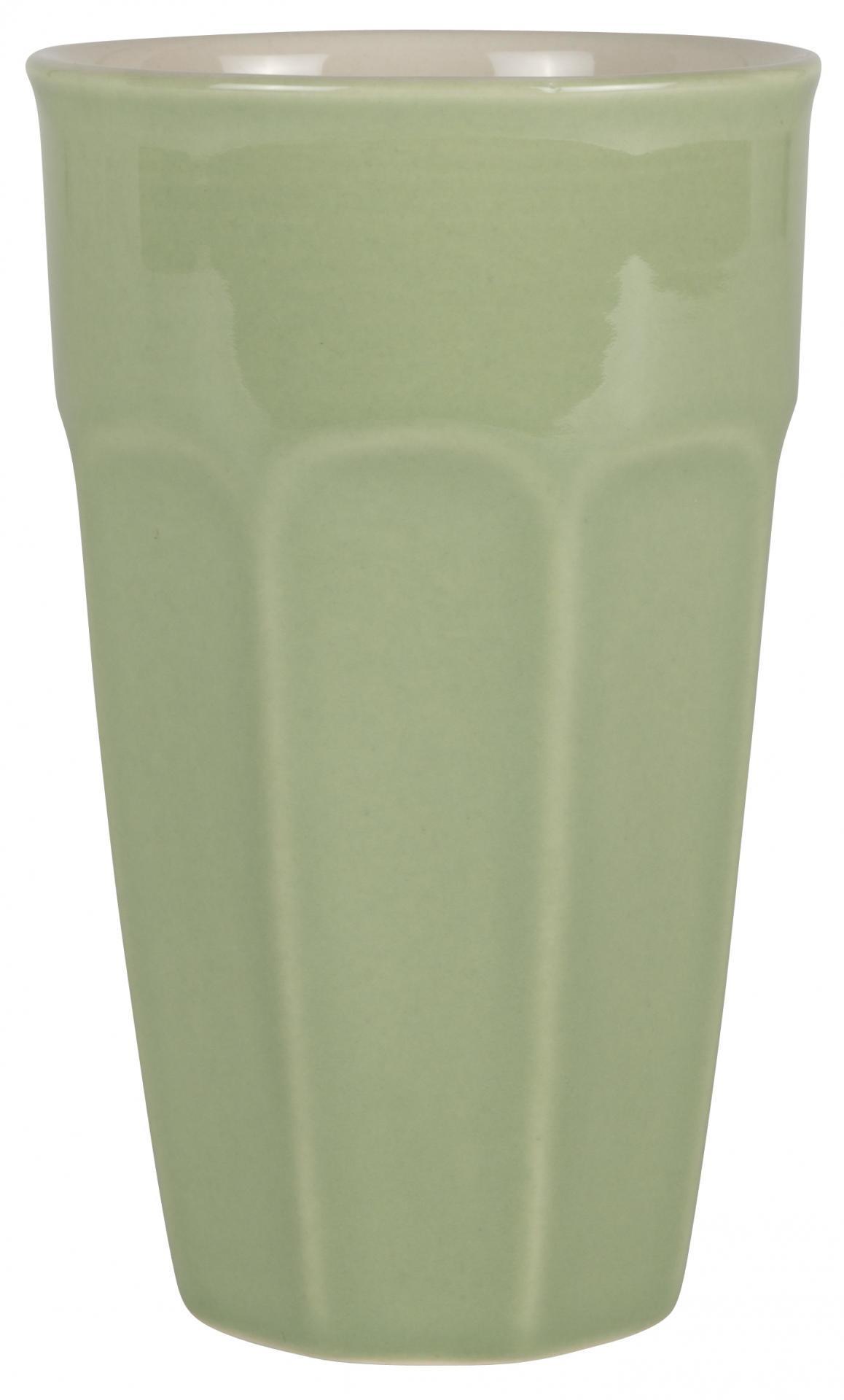 IB LAURSEN Latte hrneček Mynte Meadow green 400 ml, zelená barva, keramika