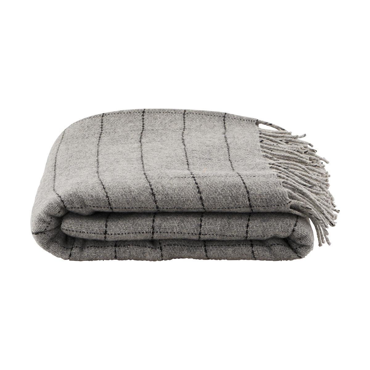 House Doctor Vlněný přehoz Square 130x170 cm, šedá barva, textil
