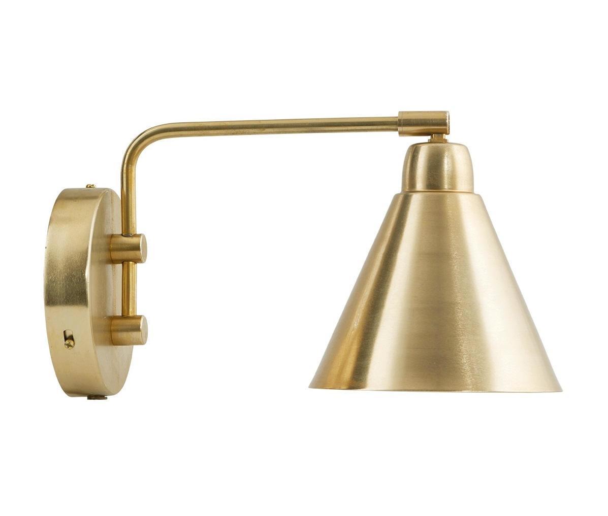 House Doctor Nástěnná lampička Game Brass, zlatá barva, kov