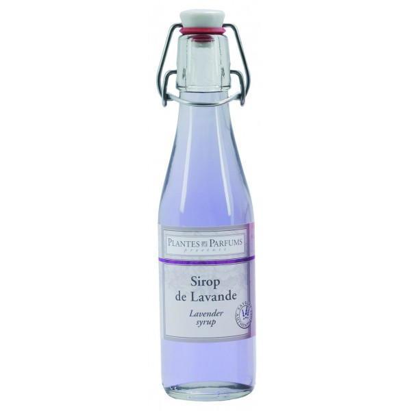 PLANTES ET PARFUMS provence Levandulový sirup 500 ml, fialová barva, sklo