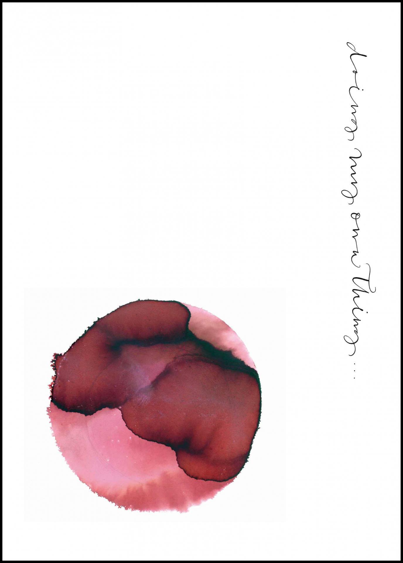 Ylva Skarp Plakát Doing My Own Thing 50x70 cm, červená barva, bílá barva, papír