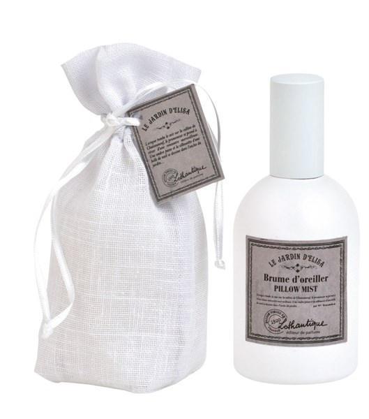 Lothantique Sprej na polštář Le Jardin d'Elisa 100 ml, bílá barva, sklo