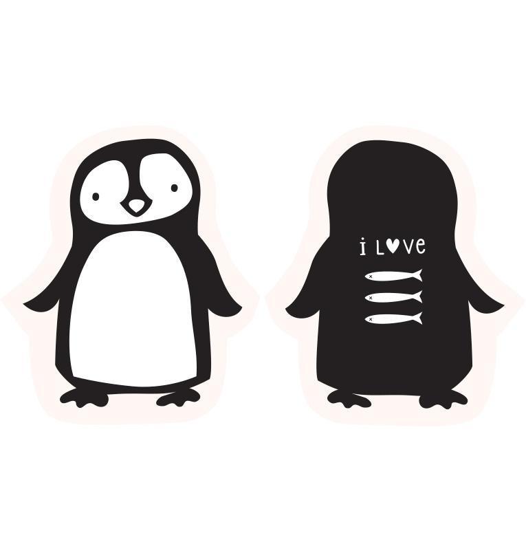 A Little Lovely Company Dětský polštářek Penguin, černá barva, textil
