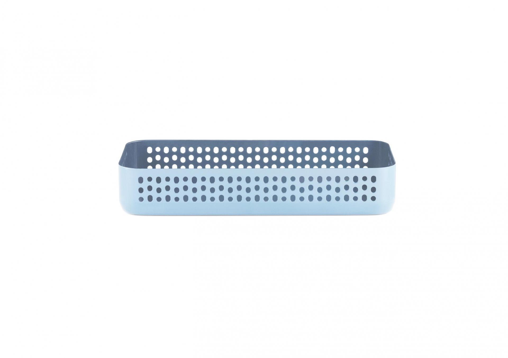normann COPENHAGEN Kovový podnos/organizér Nic Nac Blue S, modrá barva, kov