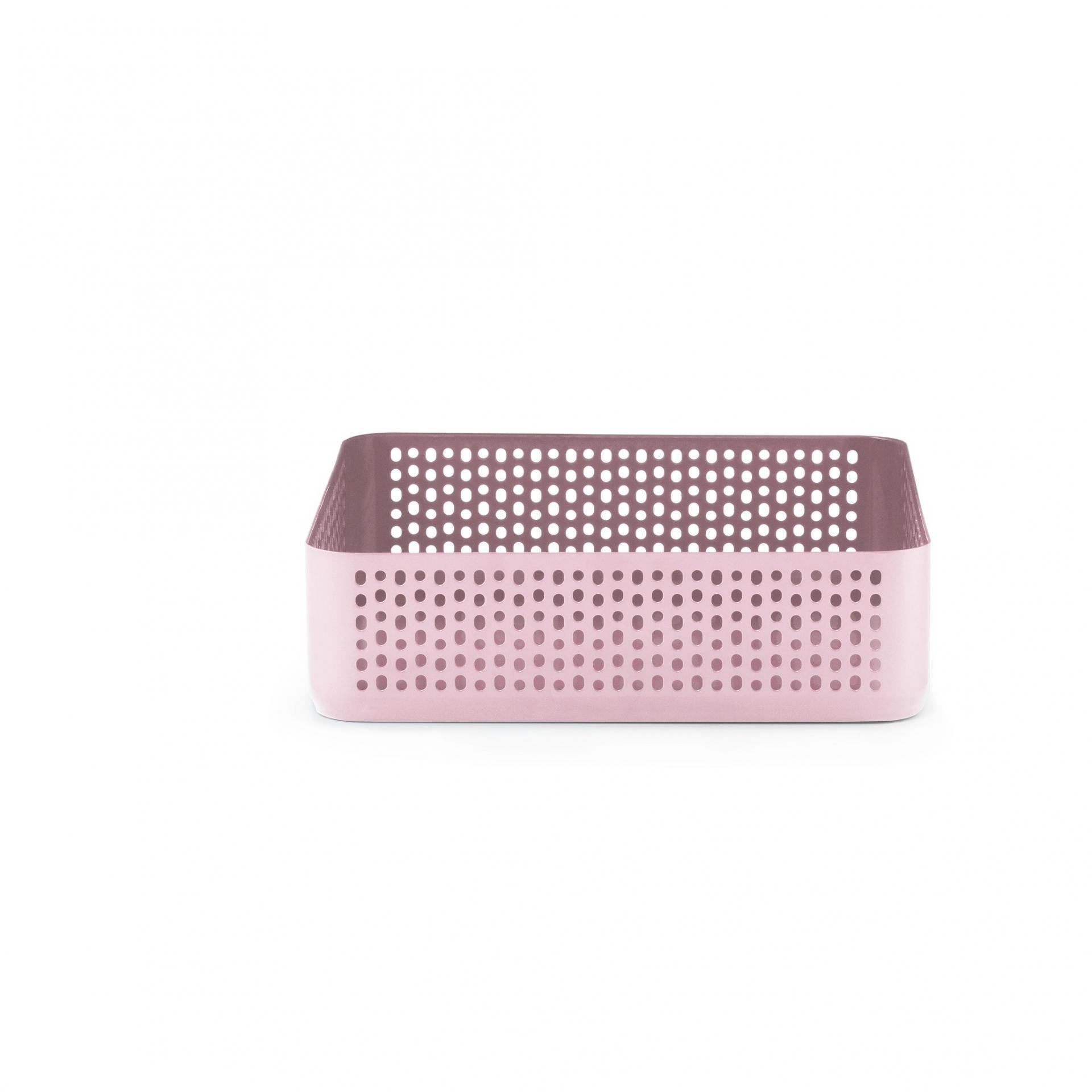 normann COPENHAGEN Kovový podnos/organizér Nic Nac Pink Square, růžová barva, kov