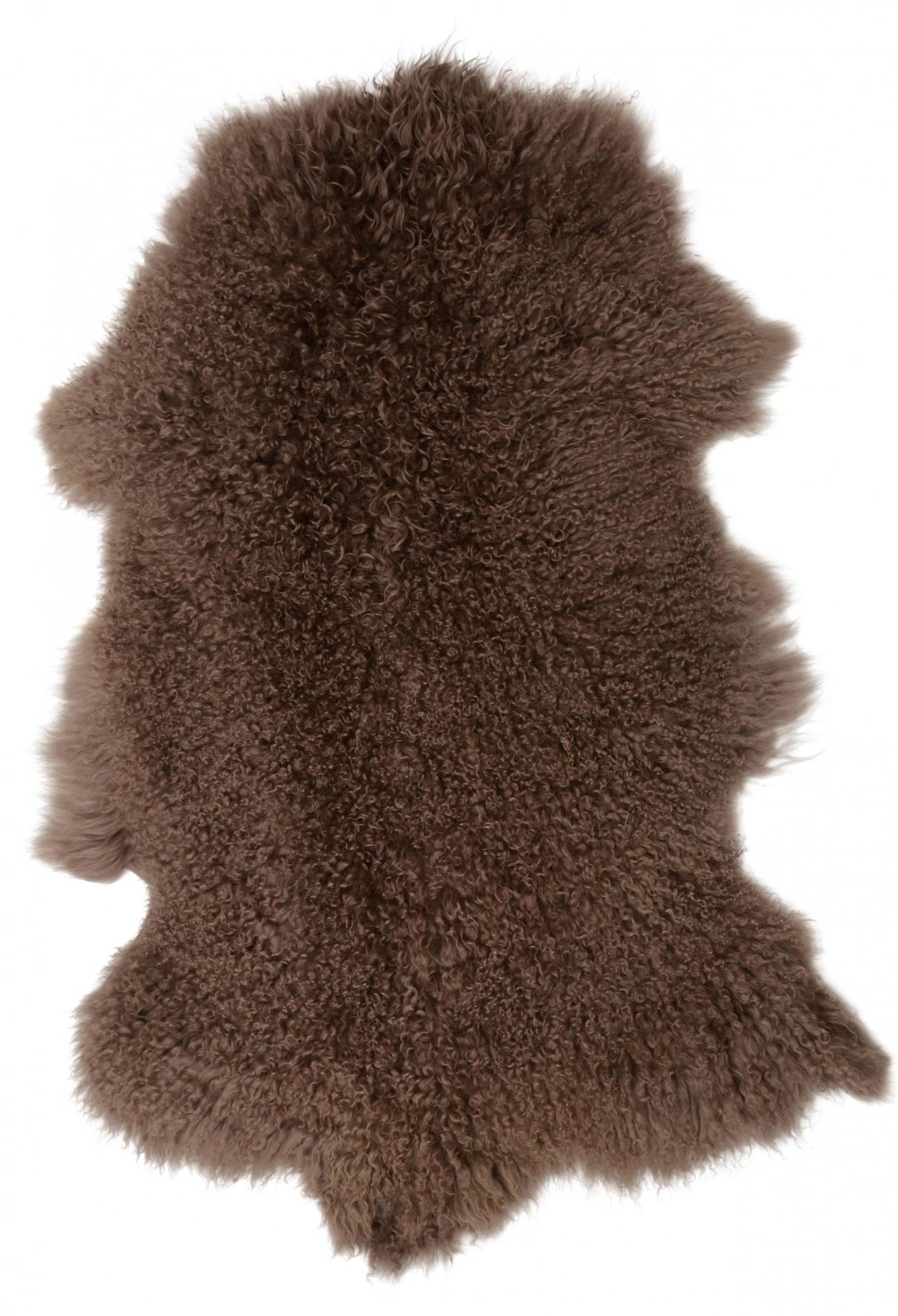 IB LAURSEN Tibetská ovčí kožešina Brown Hnědá