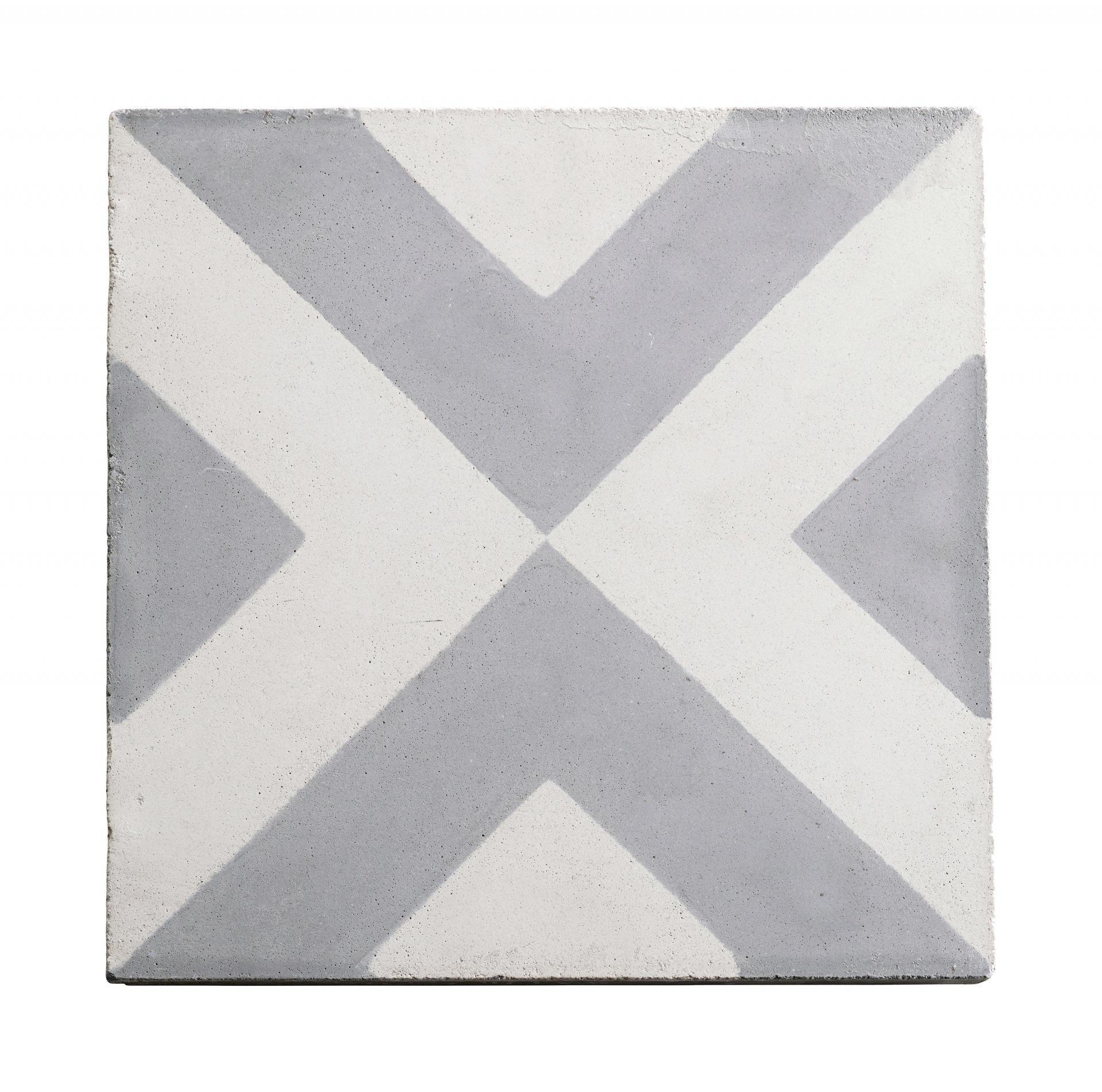 tineKhome Cementová kachle Grey Pattern, šedá barva, beton