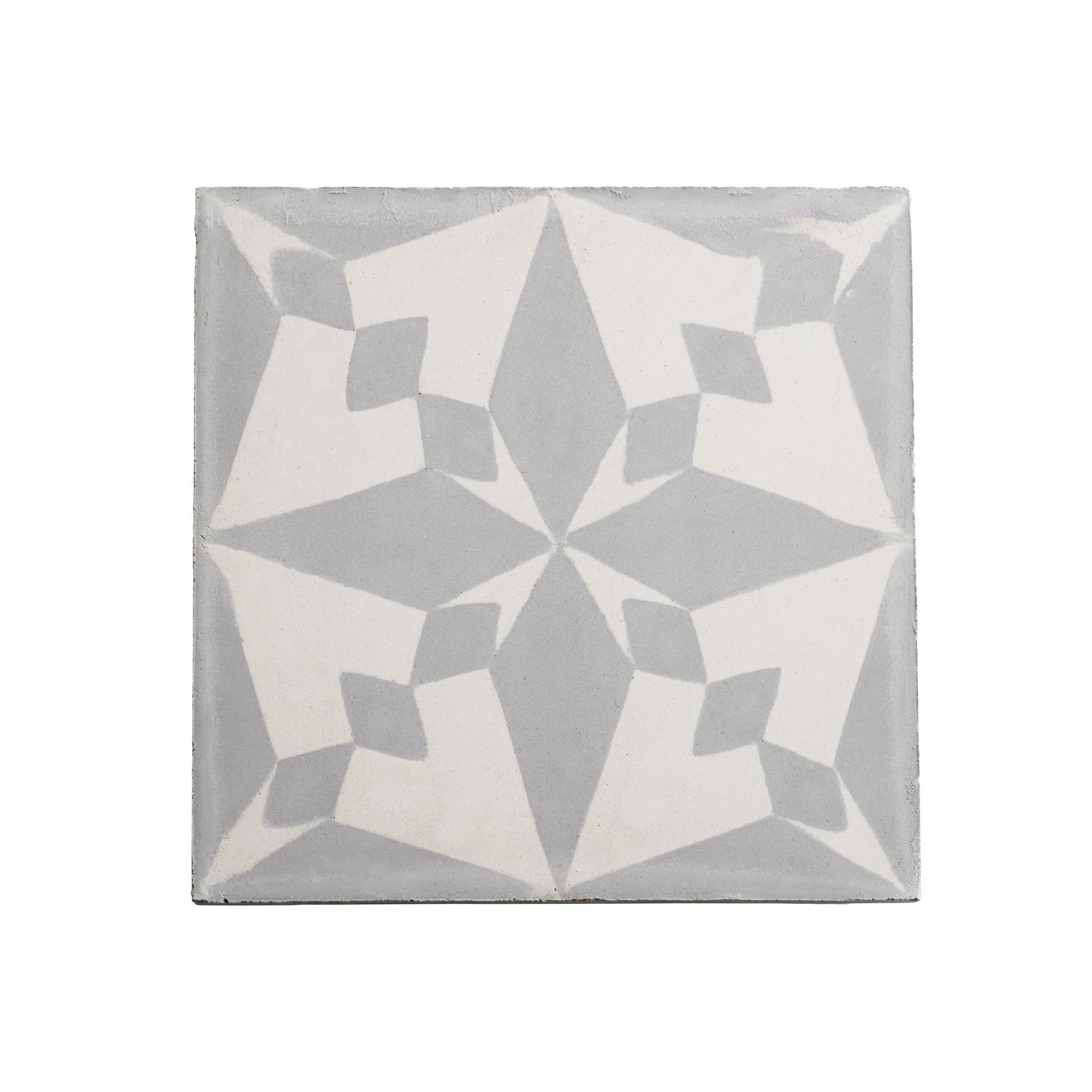 Tine K Home Cementová kachle Grey Pole, šedá barva, beton