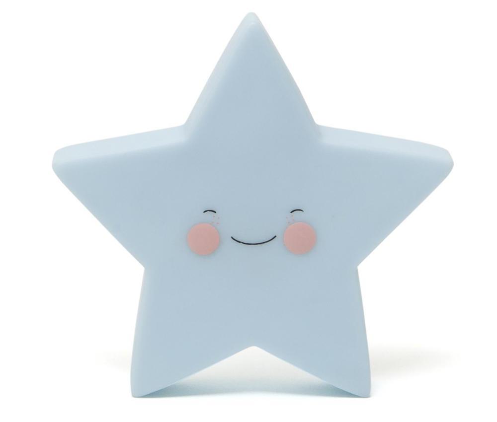 EEF lillemor Noční LED lampička Star Blue, modrá barva, plast