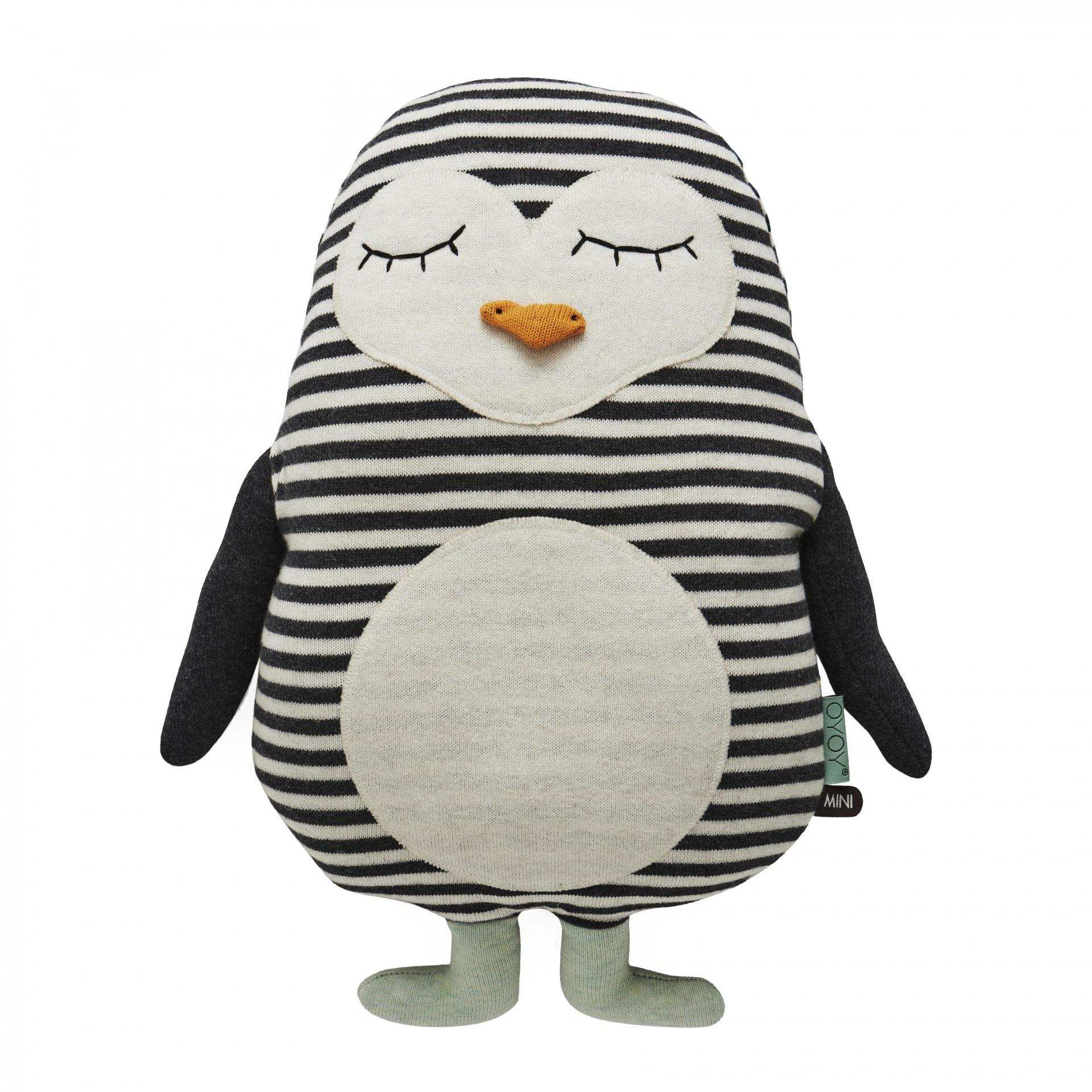 OYOY Dětský polštářek/plyšák tučňák Pingo, multi barva, textil