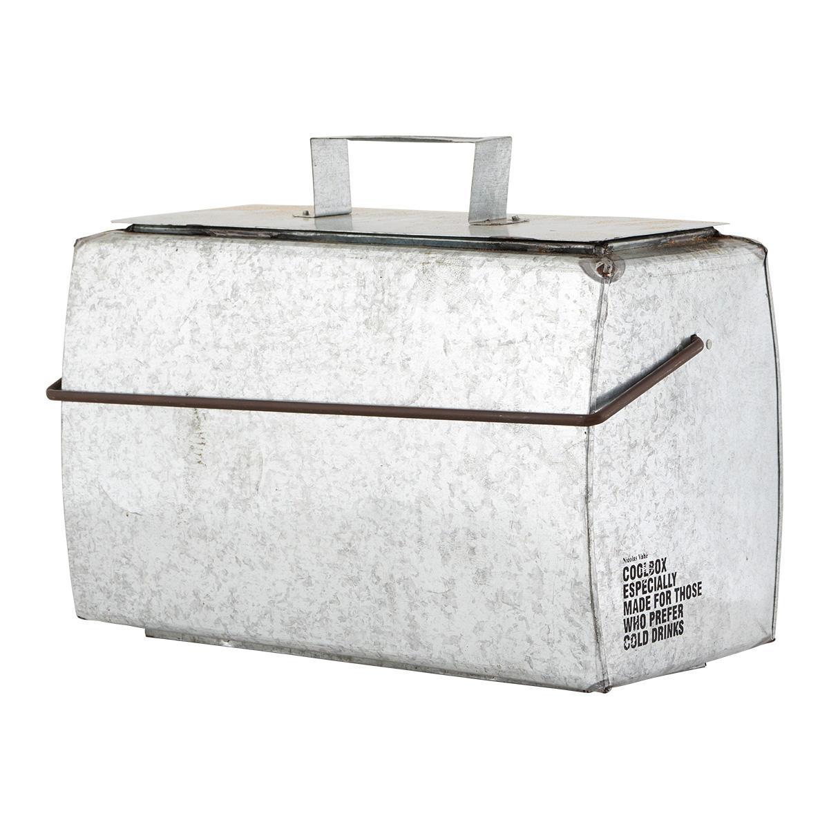 Nicolas Vahé Železný chladící box Nicolas Vahé, šedá barva, stříbrná barva, kov