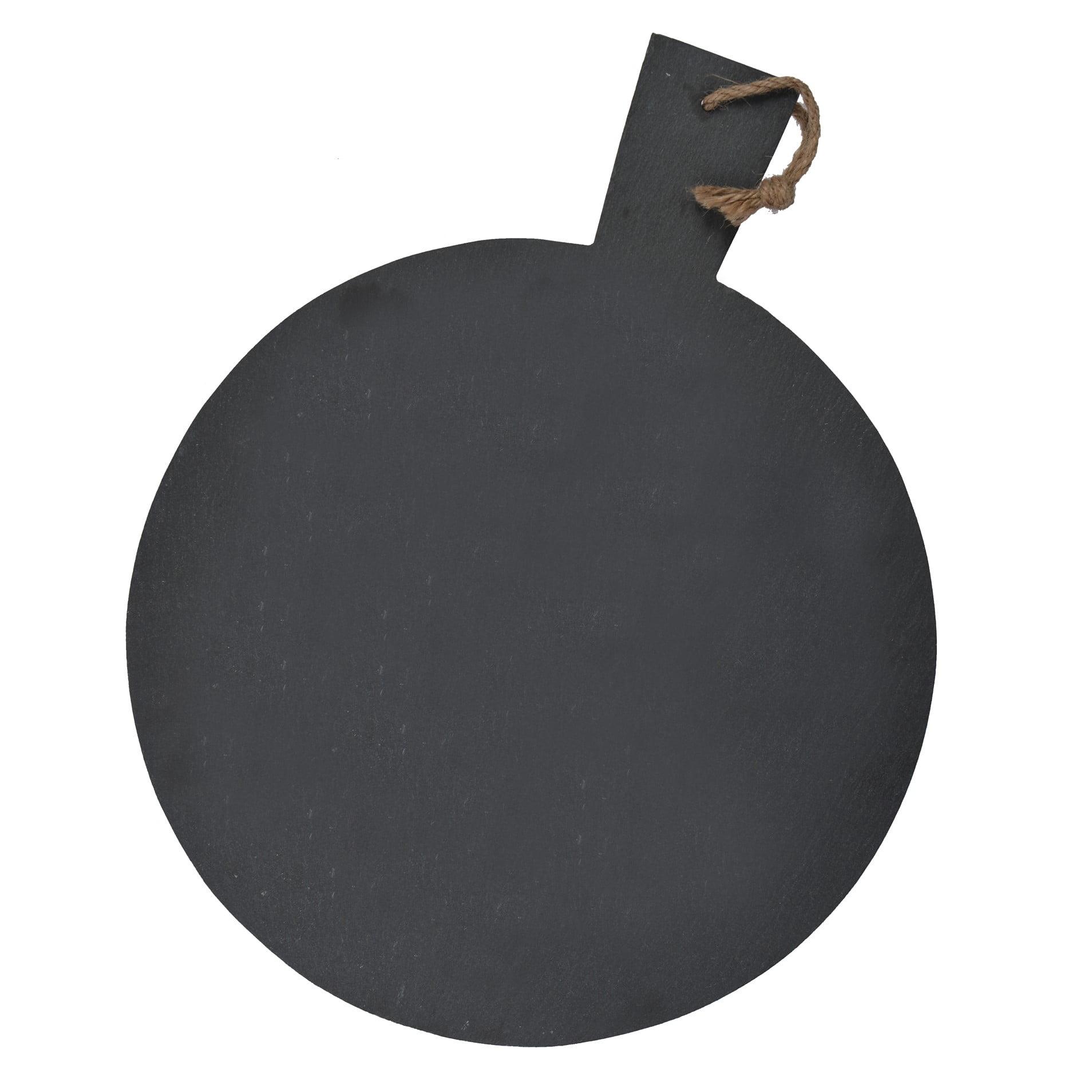 Garden Trading Servírovací prkénko na pizzu 35cm, černá barva, kámen
