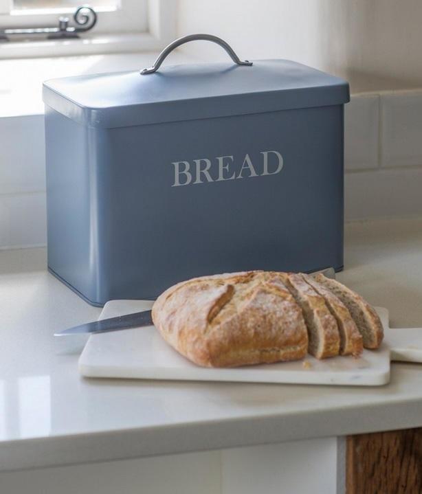 Garden Trading Plechový box Bread - Dorset blue, modrá barva, kov