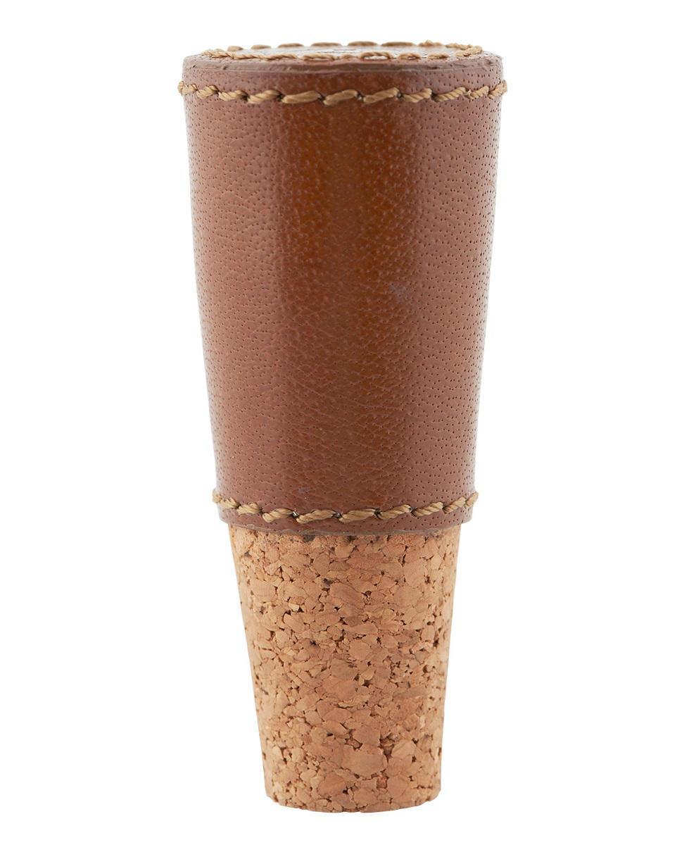 house doctor Korková zátka na lahev Brown, hnědá barva, kůže, korek