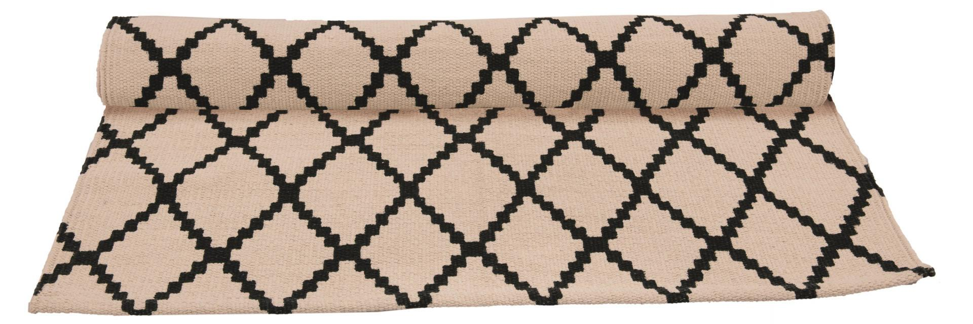Blossom Bavlněný koberec Alice 70x200 cm, béžová barva, krémová barva, textil Krémová