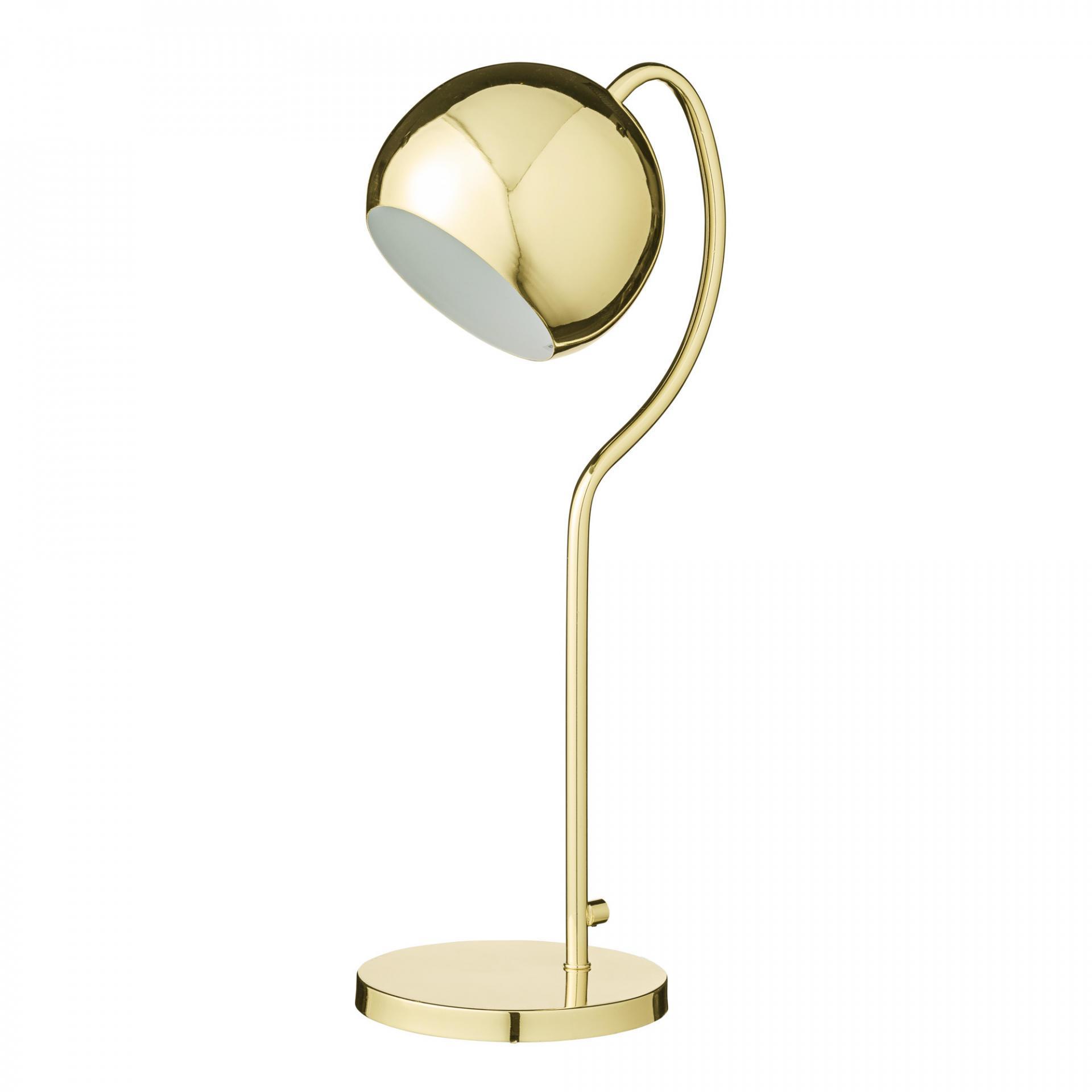 Bloomingville Stolní lampa Globe Shiny gold, zlatá barva, kov