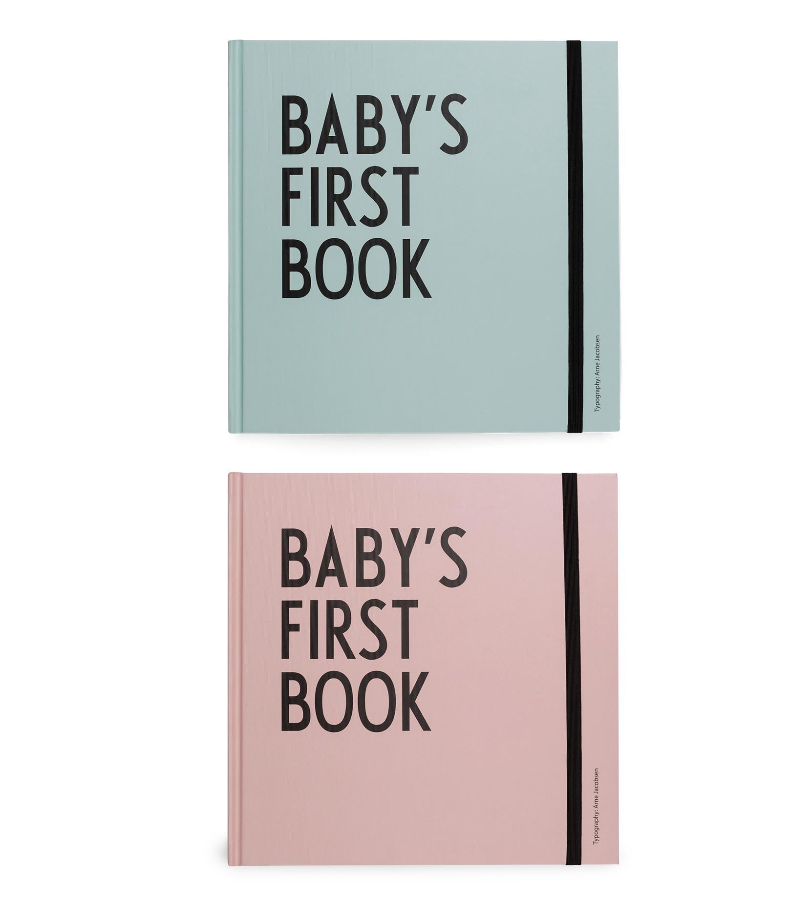 Design Letters Deník miminka Baby's First Book Růžová, růžová barva, zelená barva