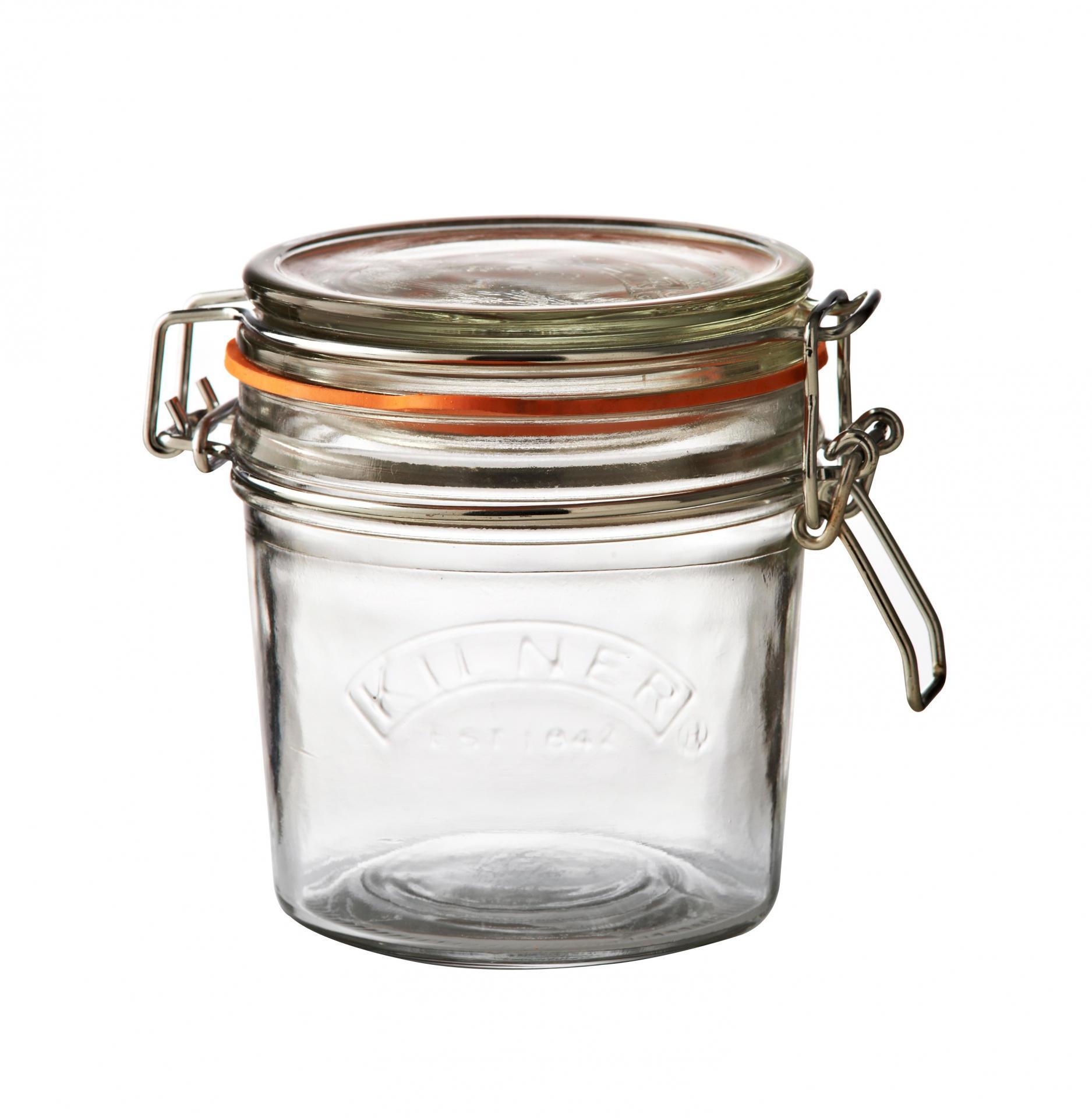 KILNER Kulatá zavařovací sklenice s klipem 350 ml