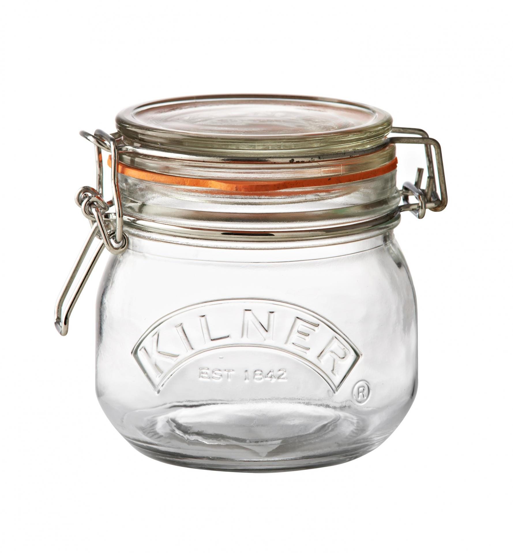 KILNER Kulatá zavařovací sklenice s klipem 500 ml