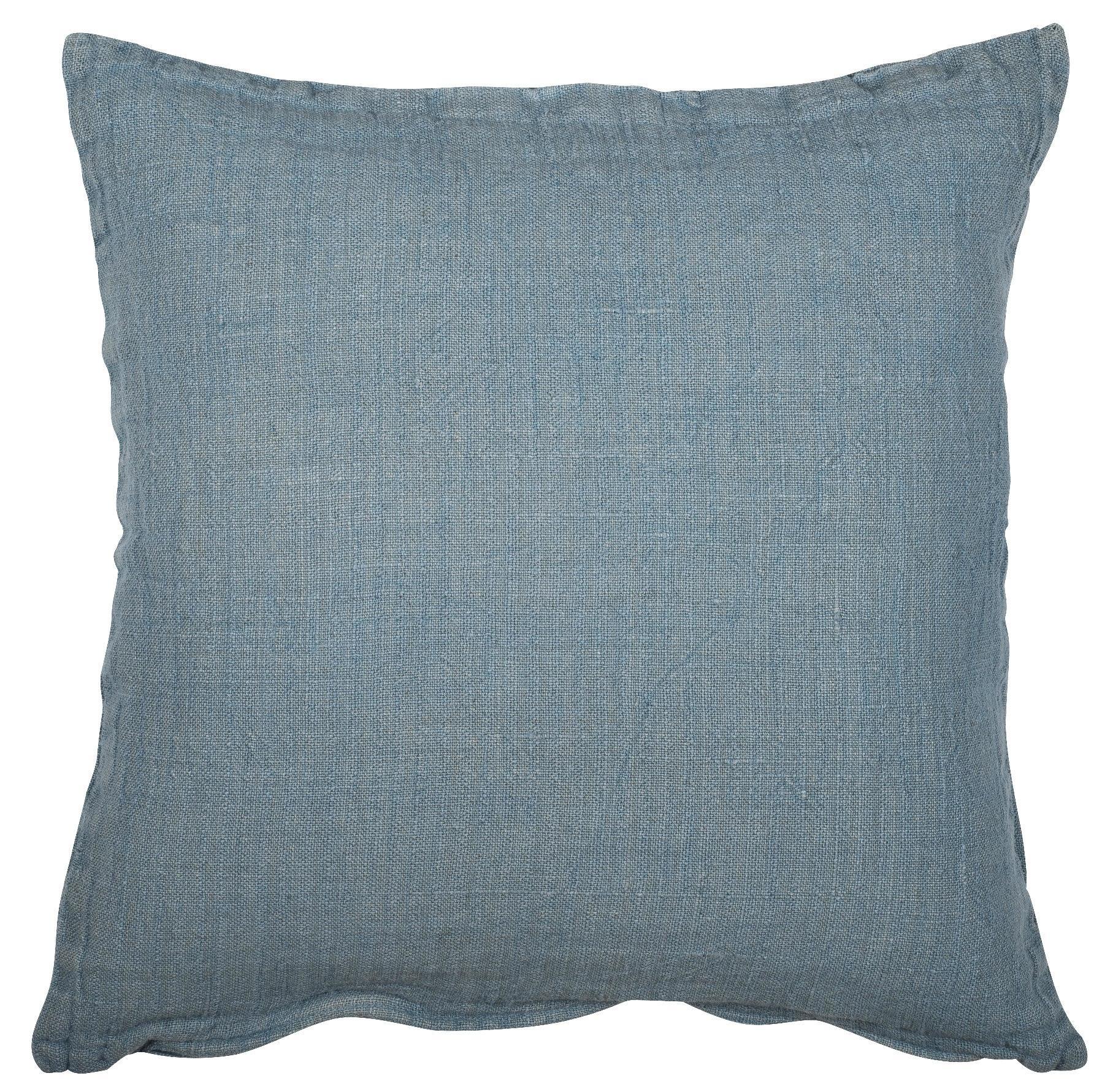 IB LAURSEN Lněný povlak na polštář Cover dusty blue 50x50, modrá barva, textil