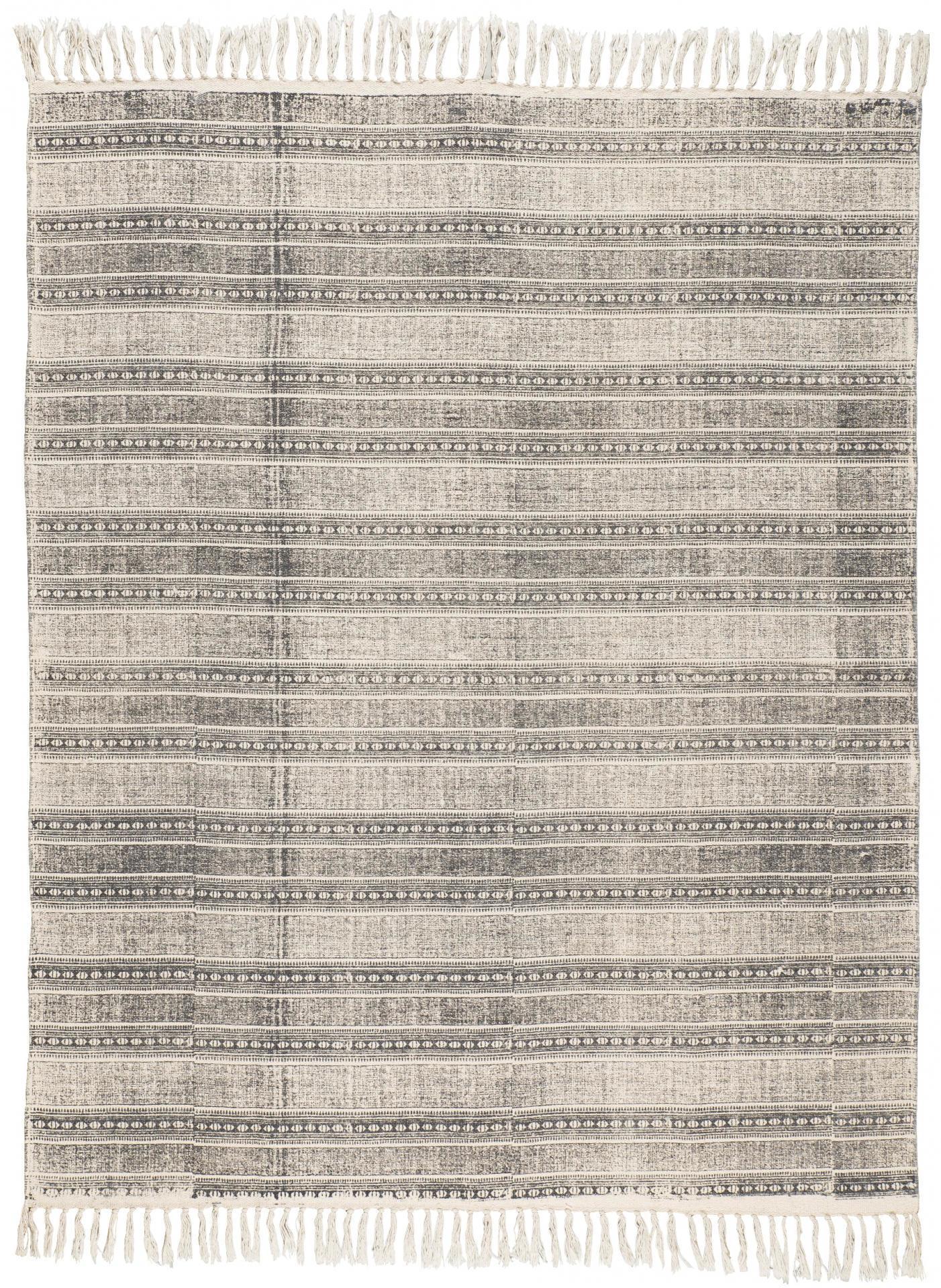 IB LAURSEN Koberec Grey printing 130x160, šedá barva, textil