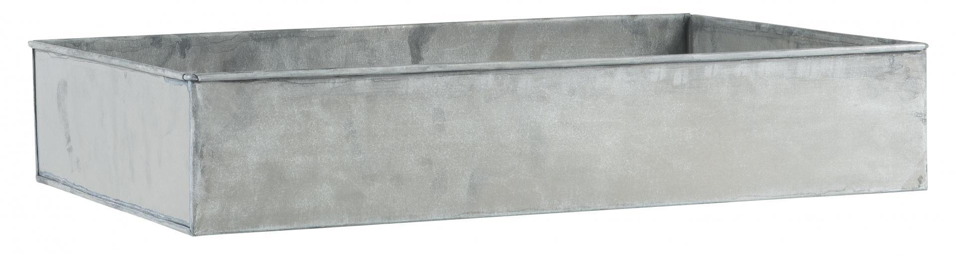 IB LAURSEN Tác pod květiny 60x37, šedá barva, zinek
