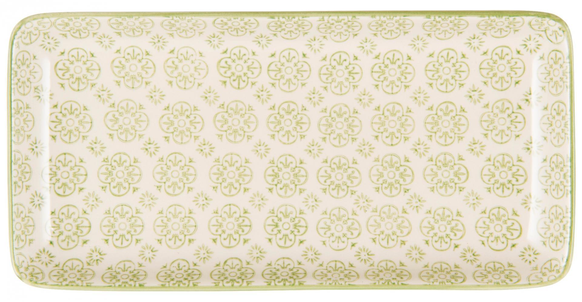 IB LAURSEN Tácek Casablanca green, zelená barva, porcelán