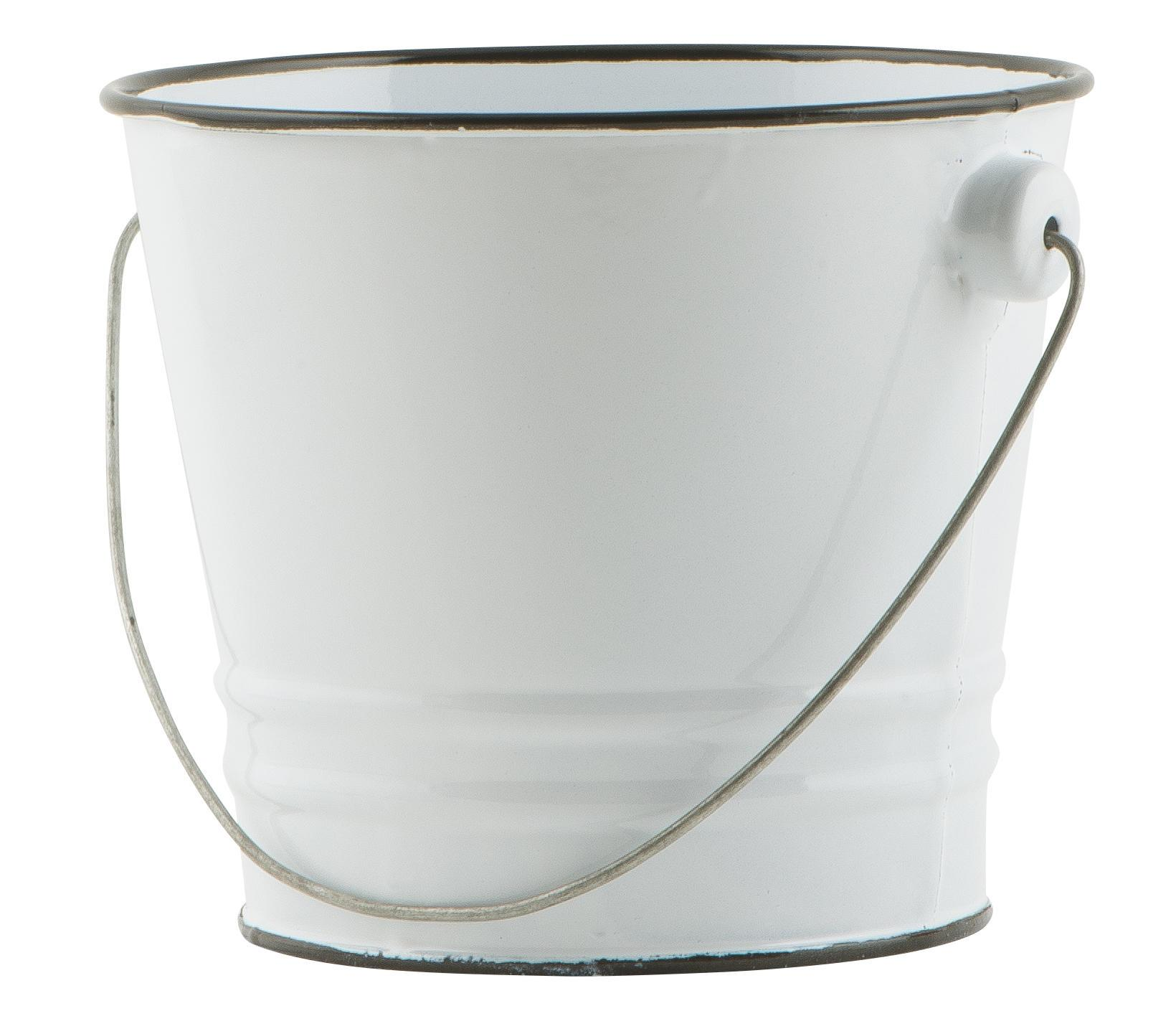 IB LAURSEN Malý smaltovaný kyblík White, bílá barva, smalt
