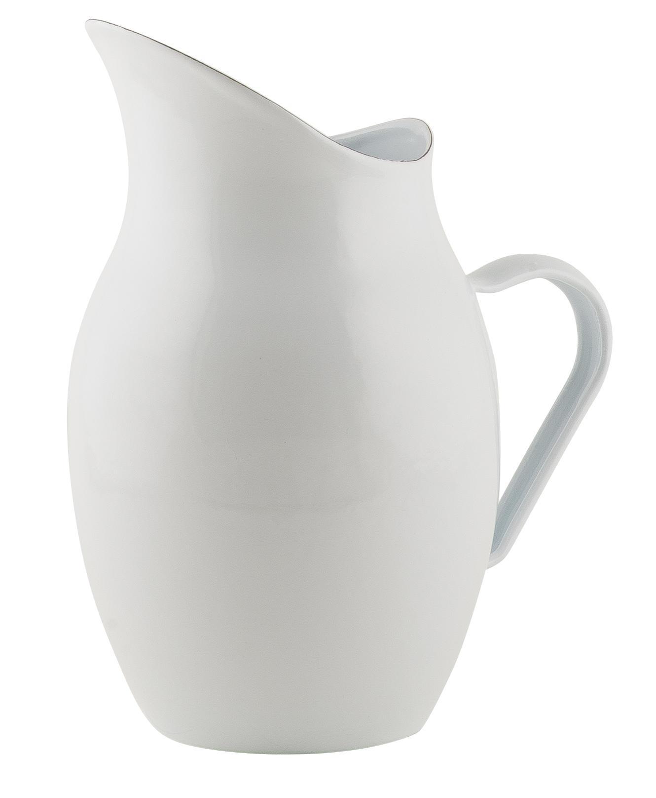 IB LAURSEN Smaltovaný džbán White 2,2l, bílá barva, smalt