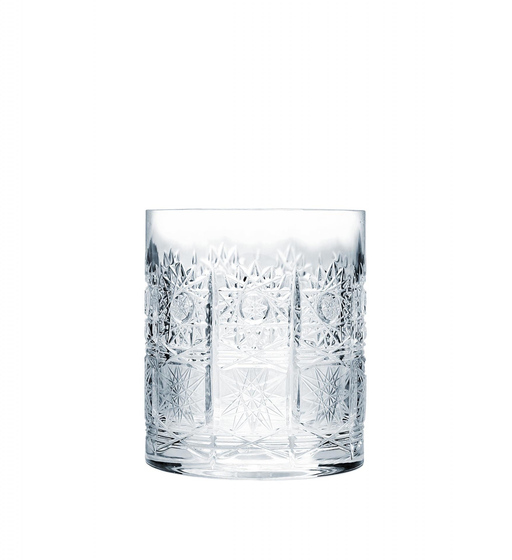 CRYSTAL BOHEMIA Broušená křišťálová sklenice na whisky Crystal BOHEMIA 3,3 dcl, čirá barva, sklo