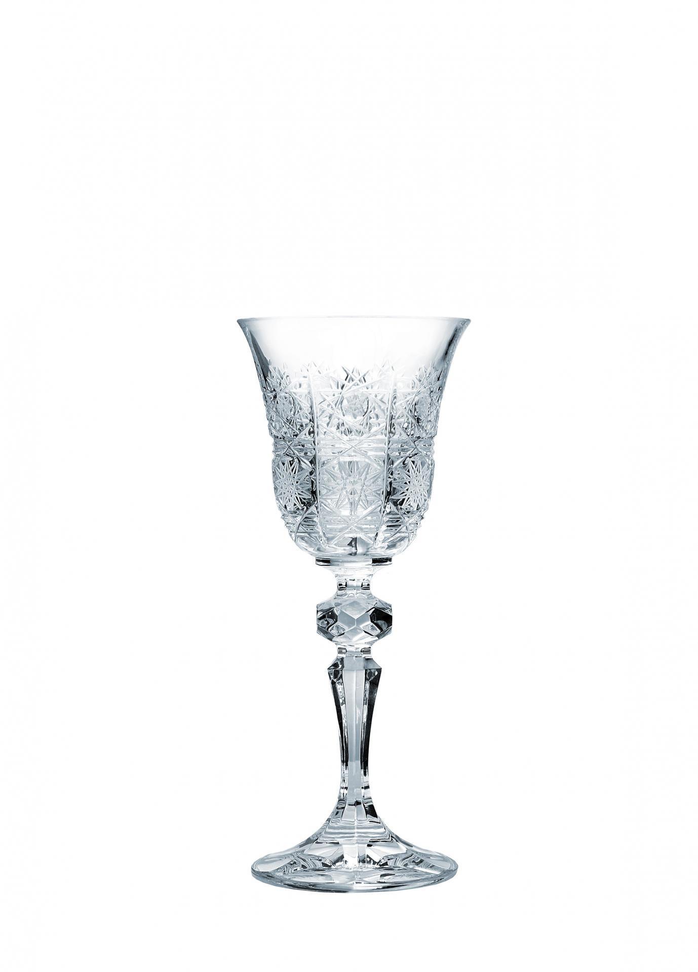 Crystal BOHEMIA Broušená křišťálová sklenička na dezertní víno Crystal BOHEMIA