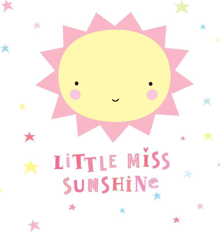 A Little Lovely company Nástěnná samolepka Miss Sunshine