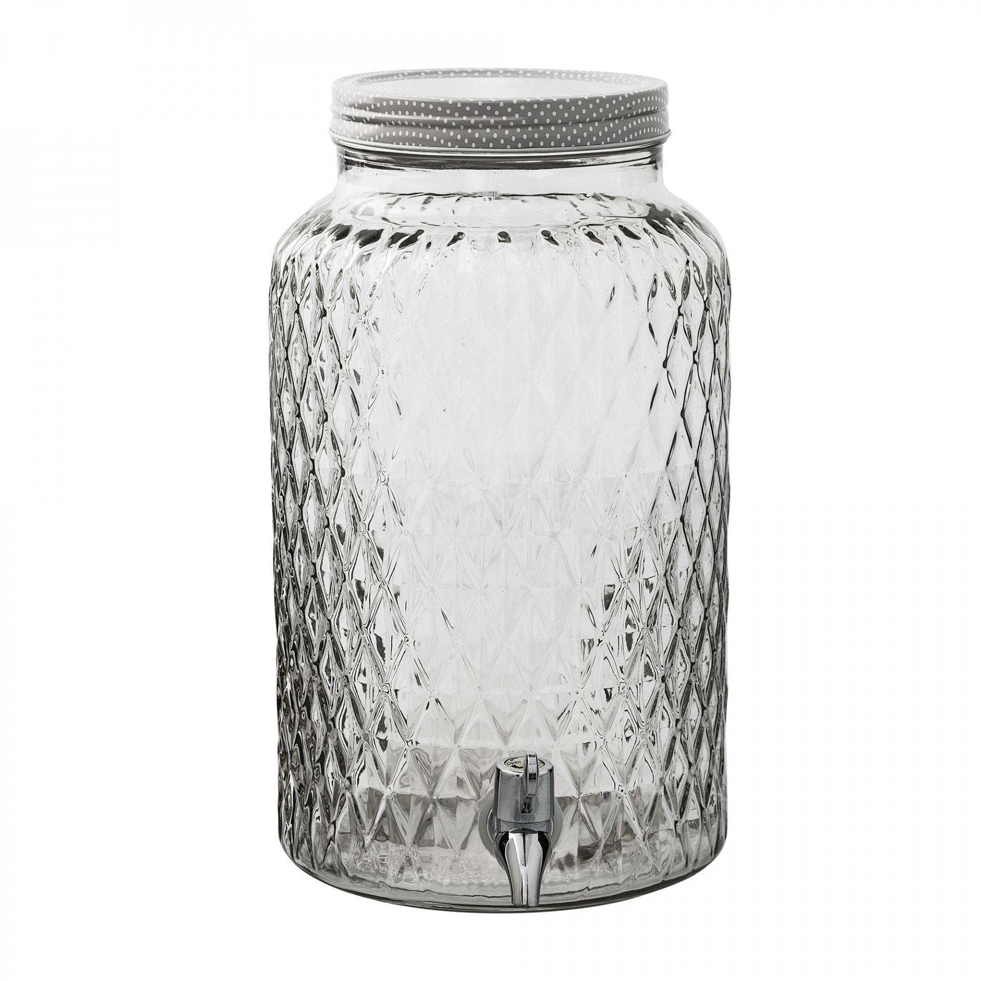 Bloomingville Skleněná nádoba na nápoje - 6 L, čirá barva, sklo