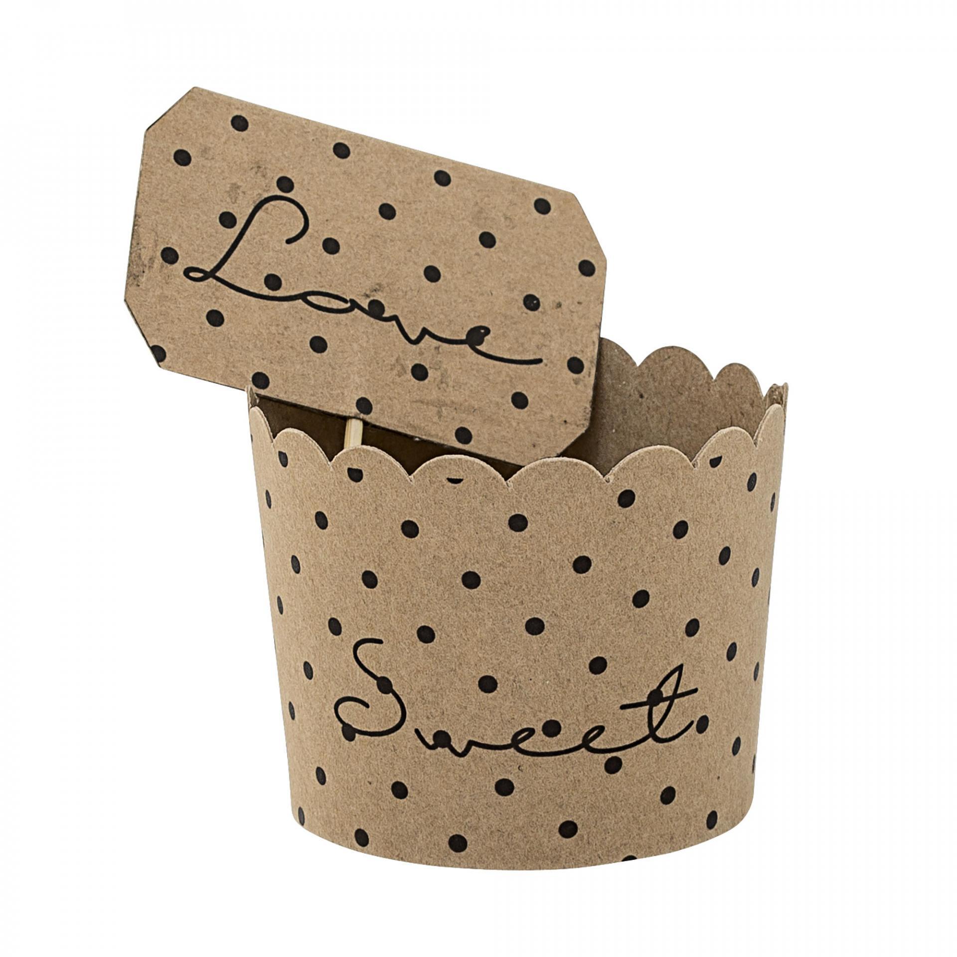 Bloomingville Papírové košíčky na muffiny - 8 ks, hnědá barva, papír