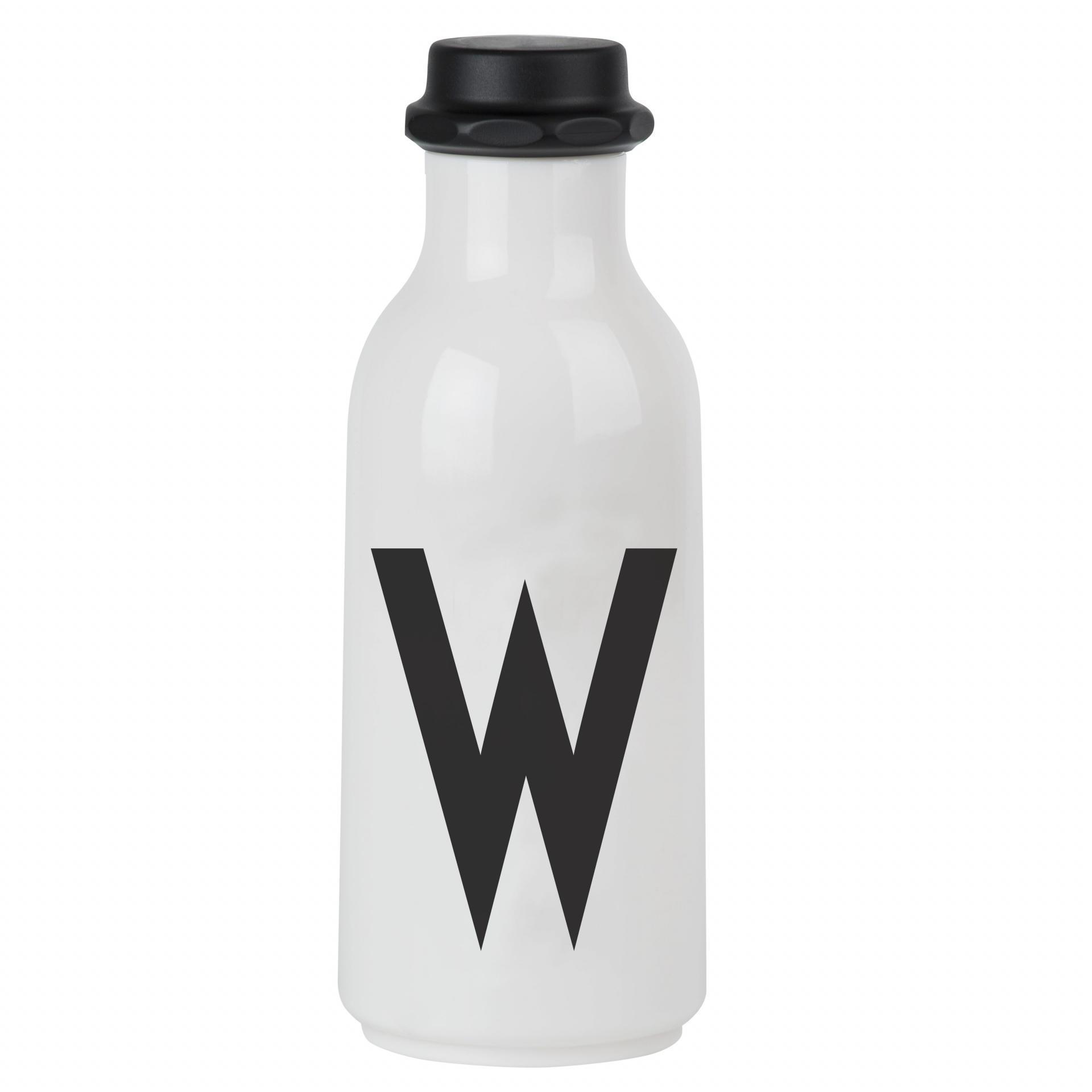 DESIGN LETTERS Lahev na vodu Letters B, černá barva, bílá barva, plast