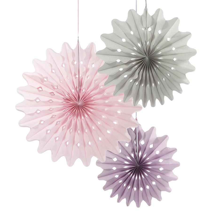Talking Tables Závěsné papírové dekorace Paper Fans - set 3 ks