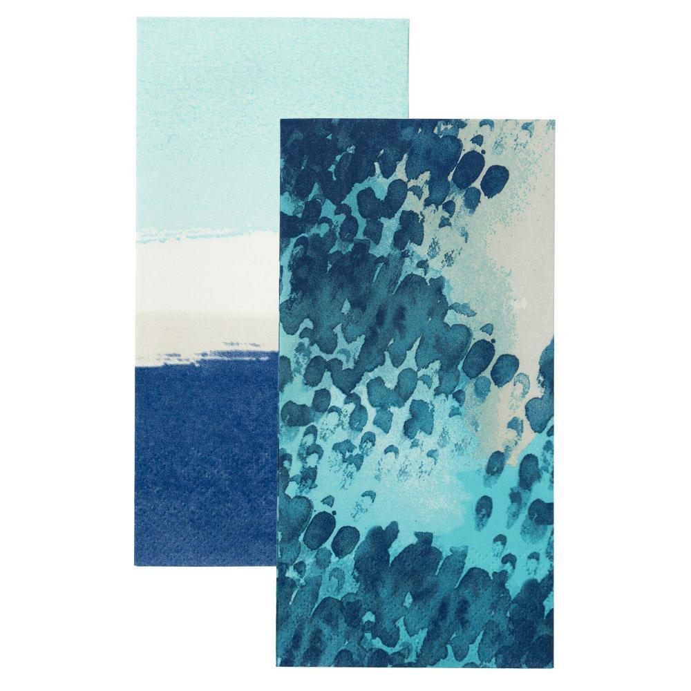 Talking Tables Papírové ubrousky Coastal - set 2 druhy, modrá barva, papír