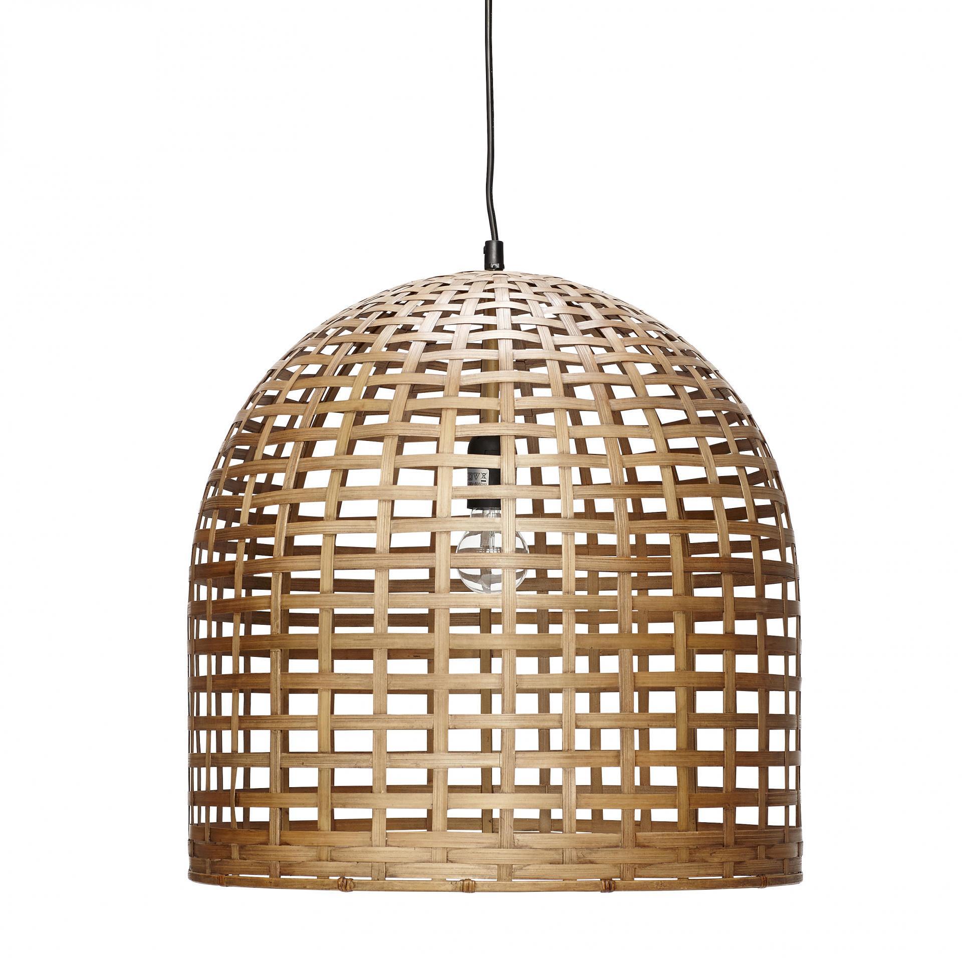 Hübsch Stropní lampa Bamboo nature, béžová barva, dřevo