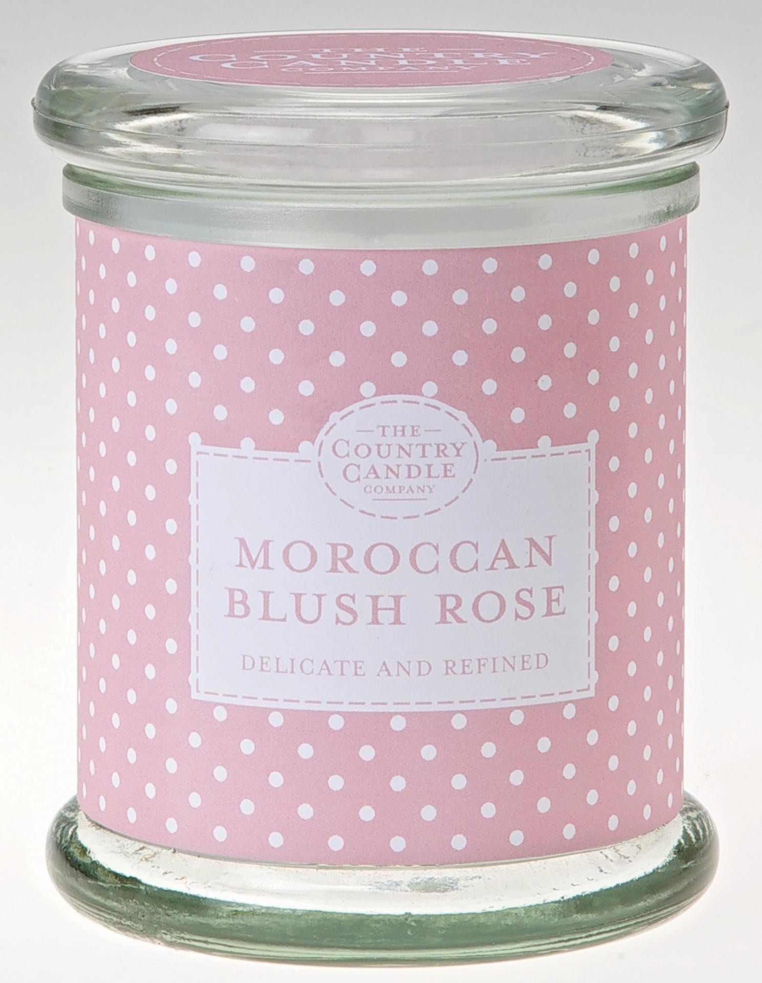 THE COUNTRY CANDLE COMPANY Svíčka ve skle - Marocká růže, růžová barva