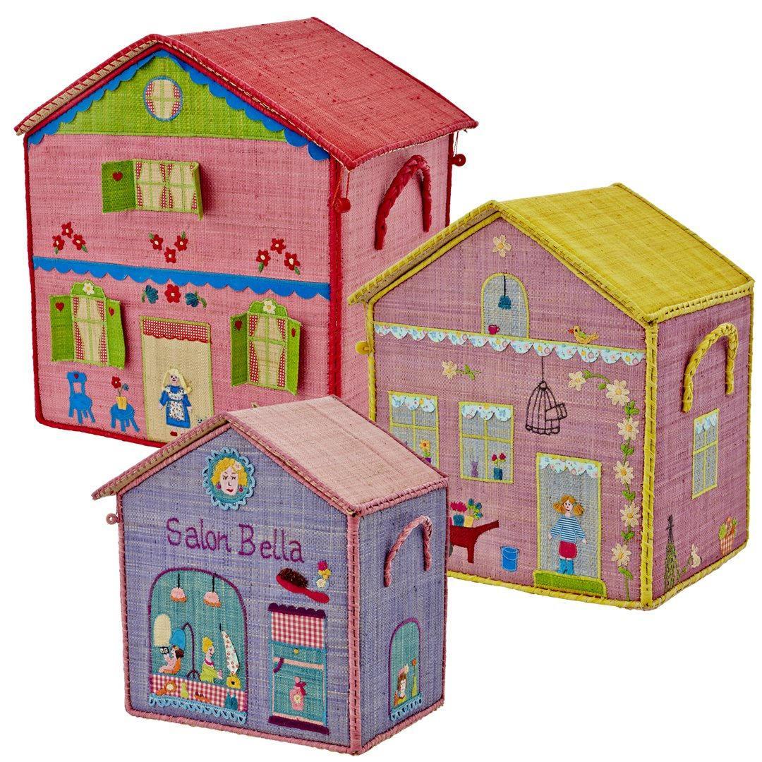 Rice Úložný box na hračky Salon Bella Velikost S, multi barva, proutí, papír