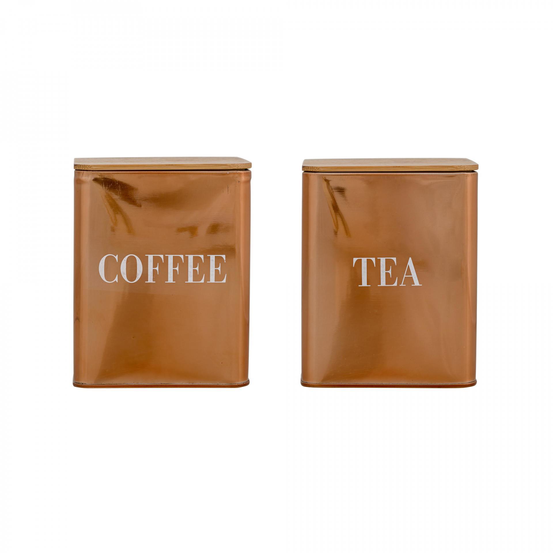 Bloomingville Plechová dóza na kávu/čaj Copper Coffee