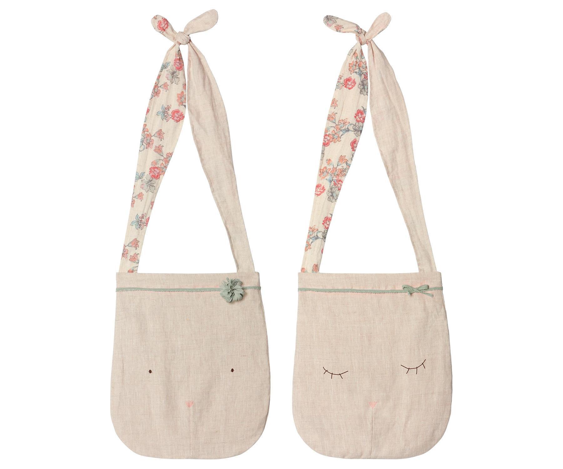 Maileg Dětská lněná taška Sleepy Bunny, béžová barva, textil