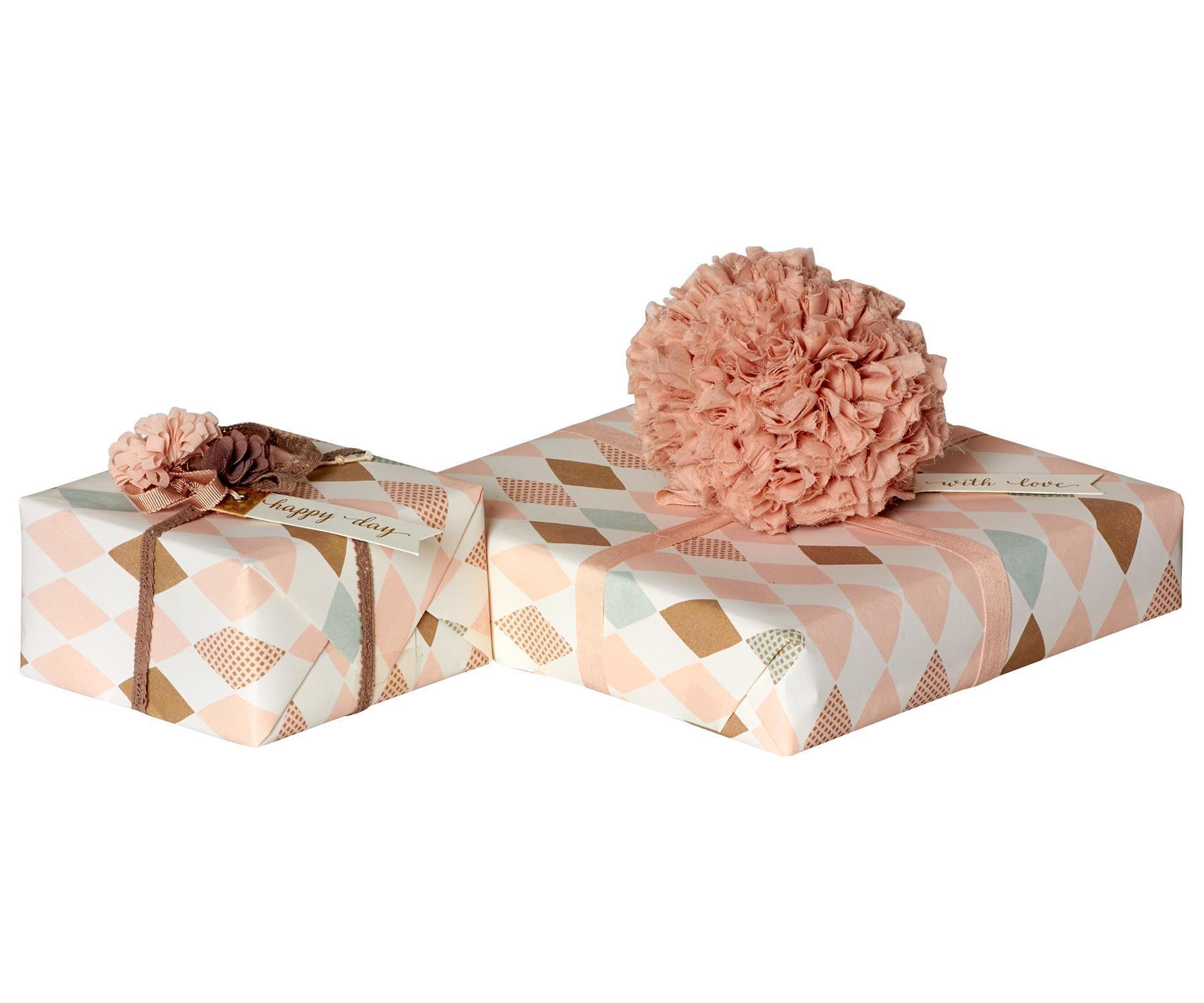 Maileg Balící papír Harlekin Rose - 10 m