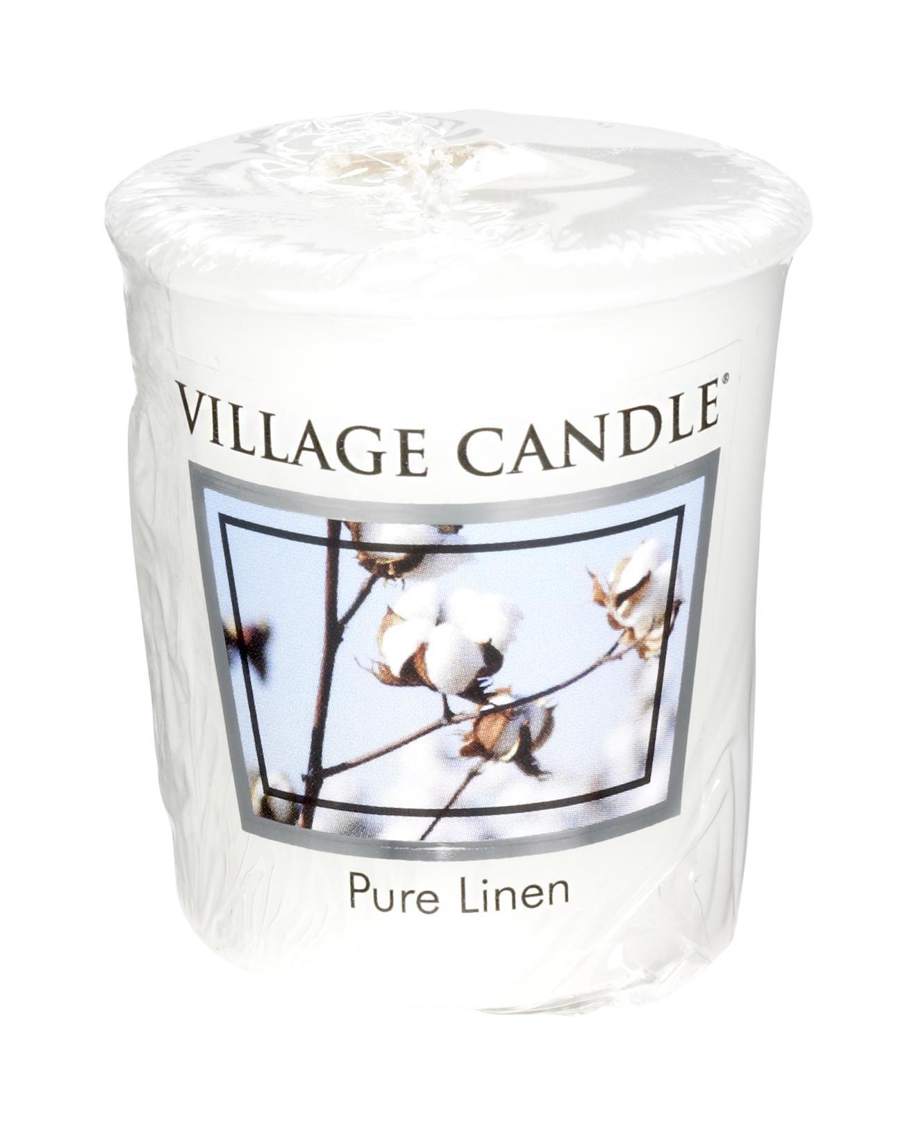 VILLAGE CANDLE Votivní svíčka Village Candle - Pure Linen, bílá barva