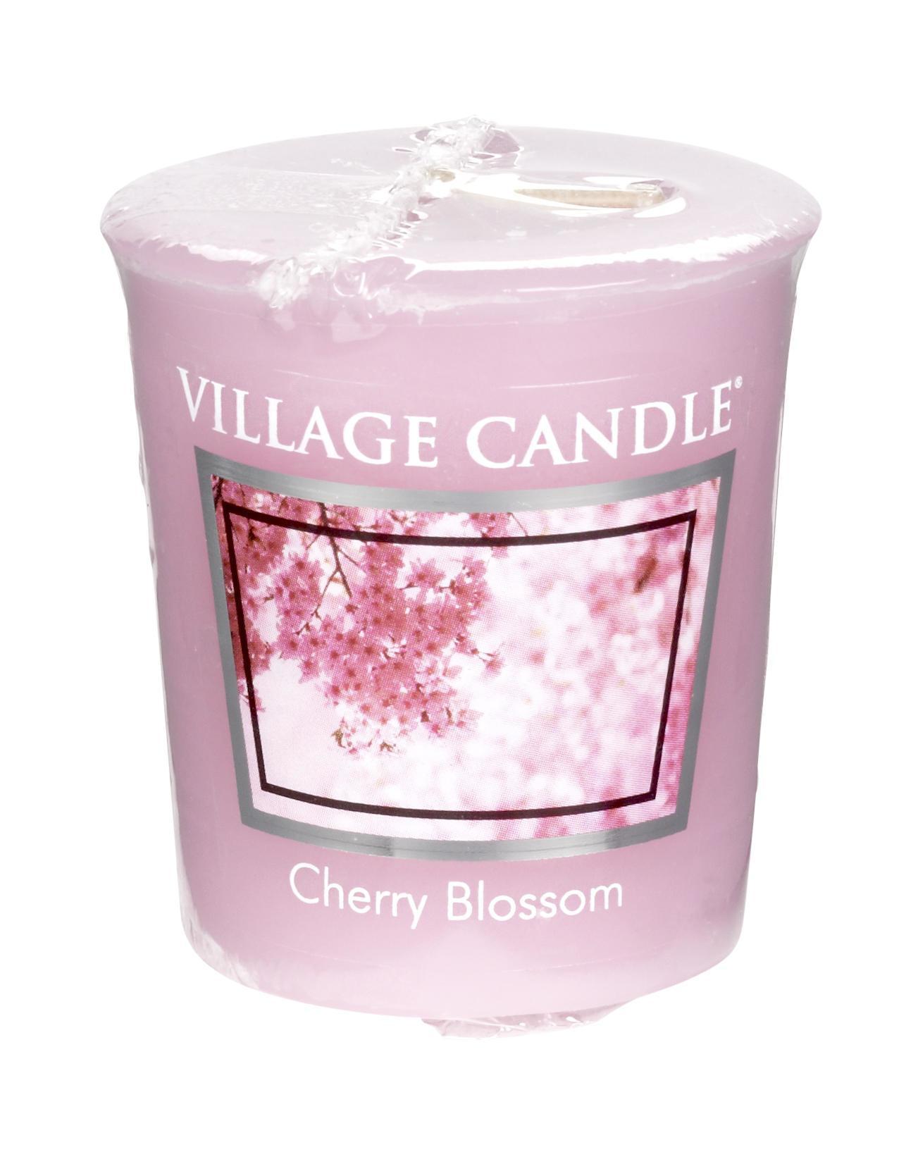VILLAGE CANDLE Votivní svíčka Village Candle - Cherry Blossom, růžová barva