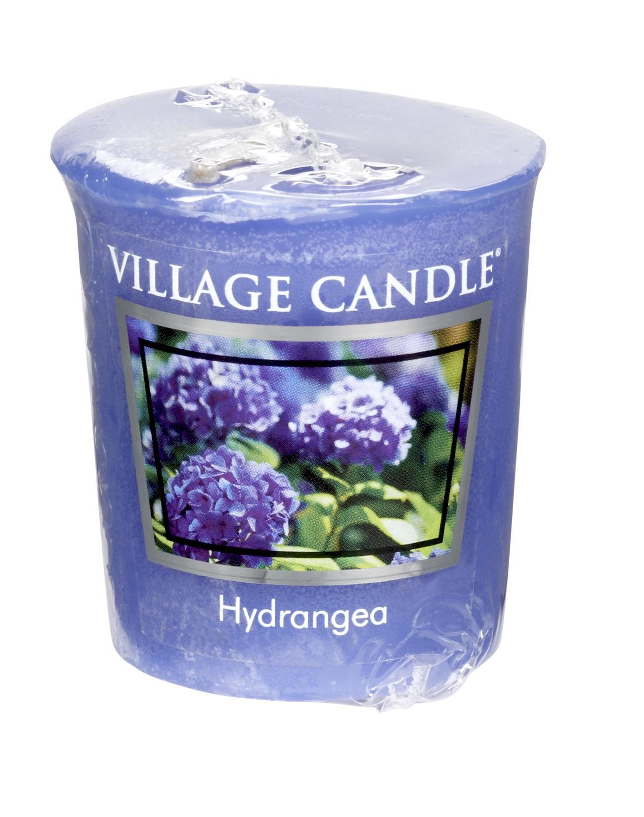 VILLAGE CANDLE Votivní svíčka Village Candle - Hydrangea, modrá barva