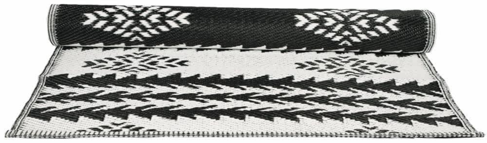 Blossom Plastový koberec Inka 120x180 cm, černá barva, bílá barva, plast