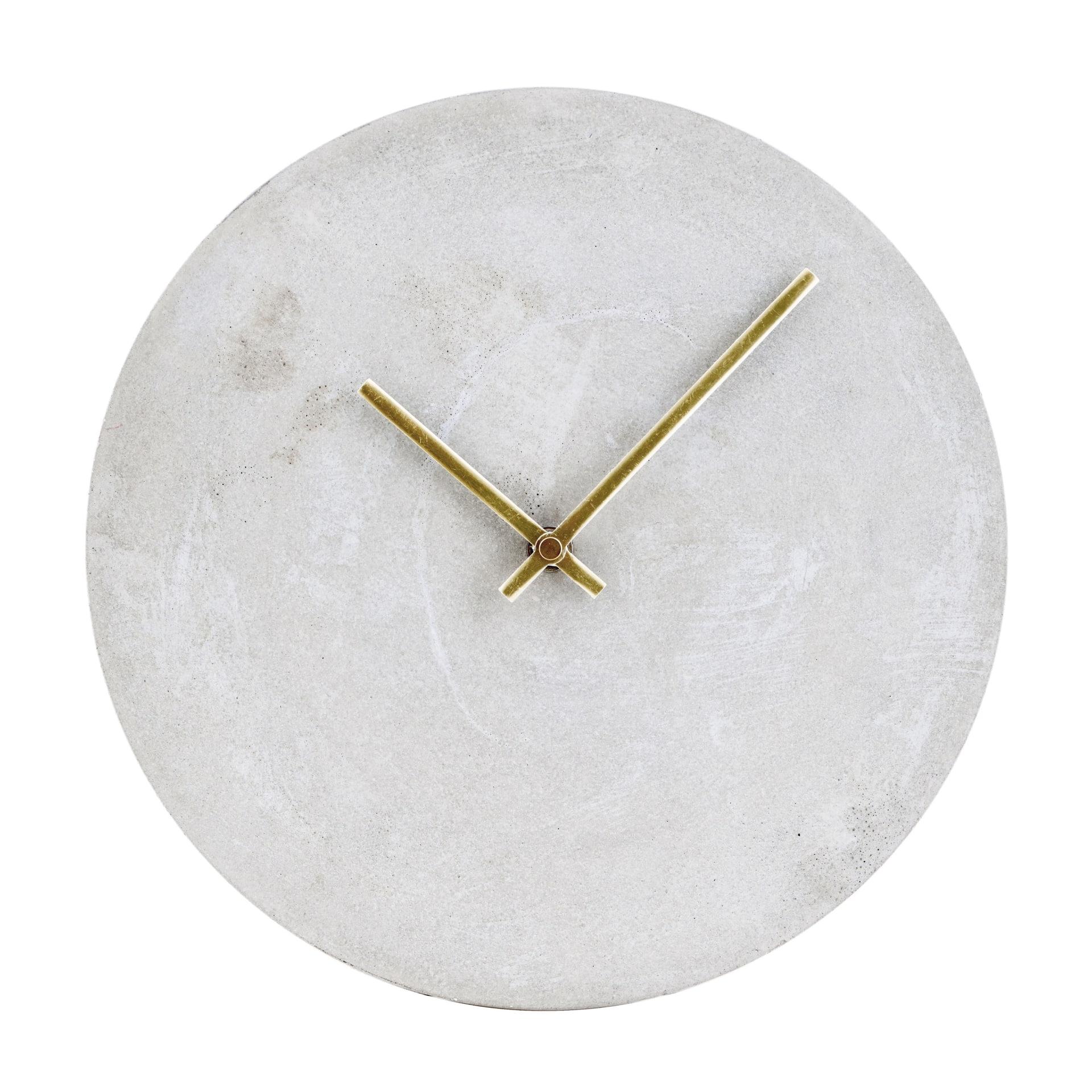 House Doctor Nástěnné hodiny Concrete, šedá barva, beton